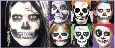 Skeleton Halloween Makeup (Halloween, Cosplay Skeleton Stage Makeup Kit - Cream, Palette, Pencil)