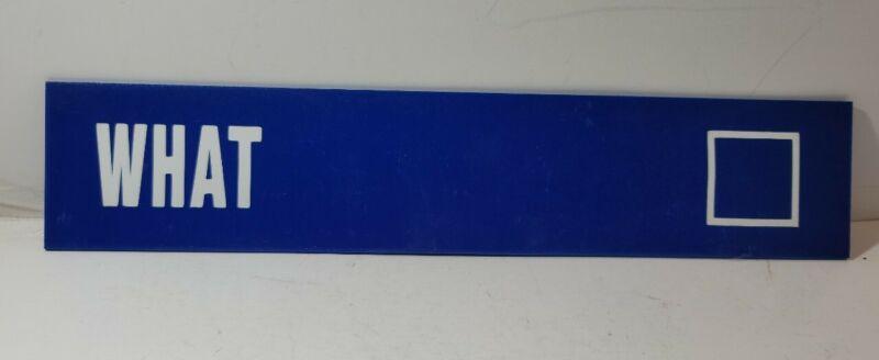 "Purgatory Ski Resort real retired Ski Run Sign ""WHAT"""