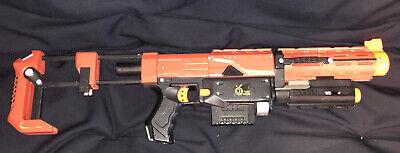 Nerf Recon CS-6 Custom Modified Toy Dart Blaster Red and Black Orange Mod Works