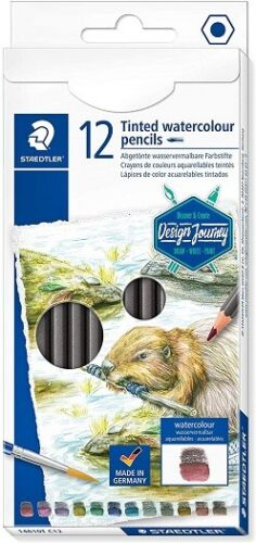 12 Pack STAEDTLER Design Journey Tinted watercolour pencils (14610T C12)