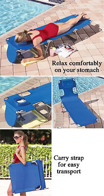 OSTRICH FOLDING LOUNGE CHAIR CHAISE SEAT PILLOW BEACH POOL LAKE DECK Patio River ()