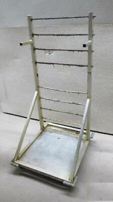 Aluminum Portable Fryer Basket Rack Holder Cart Deep Fry Commercial