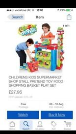 Kids supermarket only used once
