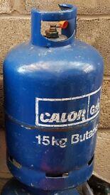 Empty Blue Butane 15kg Calor Gas Bottle - Empty And Refillable Calor Gas Bottle - Four Available