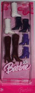 BARBIE BOOTS 2005 - 4 PAIRS - New STYLISH BOOTS with HEELS