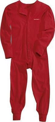 CARHARTT UNION SUIT Midweight 8-oz Cotton BRIGHT RED Work Warm Outdoors XL 2XL Carhartt Cotton Thermal Underwear