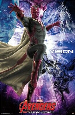 2015 MARVEL AVENGERS 2 AGE OF ULTRON MOVIE VISION POSTER 22X34 NEW FREE SHIPPING