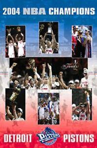 2004 NBA DETROIT PISTONS BASKETBALL CHAMPIONSHIP POSTER NEW FREE SHIP