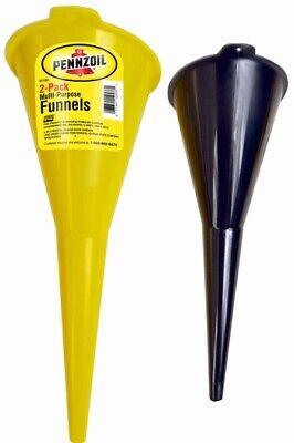 2 Pennzoil Multi-Purpose Funnels for Car-Truck-Bike Gas-Oil-Liquid etc.