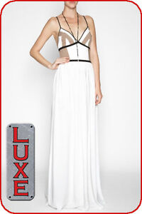 BCBG GENERATION WHITE GEO BLOCK SLEEVELESS MAXI DRESS PVG6Q516 $178 SZ. 10