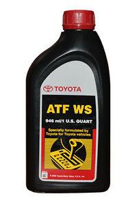 Genuine Toyota Lexus Automatic Transmission Fluid Ws 12 Qt Atf World Standard Ebay