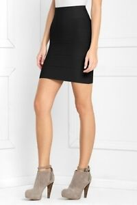 NWT BCBG SIMONE  BLACK    BANDAGE POWER  TEXTURE SKIRT  XS