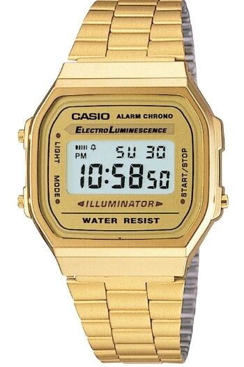 Mens Watches - CASIO MEN'S GOLD TONE STAINLESS STEEL DIGITAL WATCH A168WG
