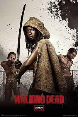 AMC FILMS THE WALKING DEAD MICHONNE & TWINS POSTER PRINT NEW 24x36 FREE SHIPPING