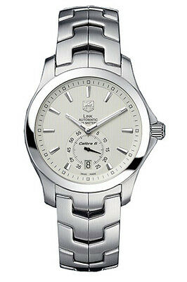 TAG HEUER LINK WJF211B.BA0570 AUTOMATIC CALIBRE 6 SILVER MEN'S STEEL WATCH