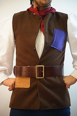 Panto Jack/Simple Simon/Stage/Shows PATCHED WAISTCOAT -  ALL AGES/MEN'S SIZES (Simple Jack Costume)