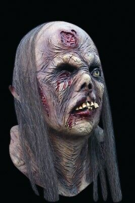 Rotting Female Zombie Walker DELUXE ADULT LATEX PIN UP GIRL MASK W/ HAIR](Girl Zombie Mask)