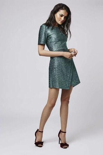 Tinsel Wrap A-Line Dress