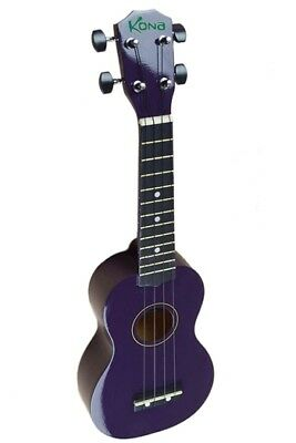Kona Soprano Ukulele In Purple With Matching Soft Case!