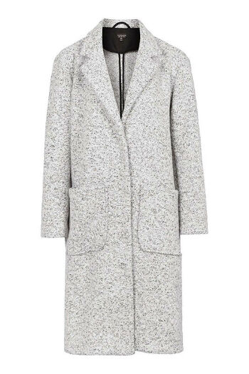 Grey Longline Wool Duster Coat