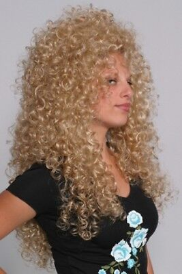 WOMENS LONG TIGHT SPIRAL CURLS CURLY LIONESS WIG 28