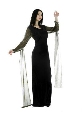 Morticia Dress Fancy Dress Outfit Costume Size - Morticia Outfit
