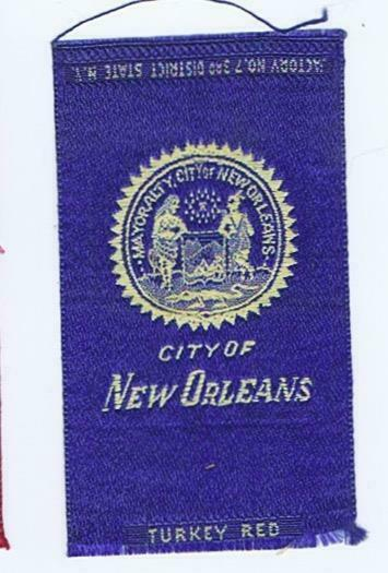City of New Orleans  Louisiana  Seal S90 Egyptienne Luxury  silk 138