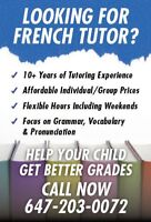 Excellent French tutoring in Central Mississauga!