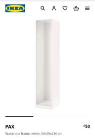 IKEA White Pax Wardrobe Frame