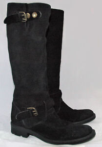 STEVEN by Steve Madden Suede Black riding boots size 9
