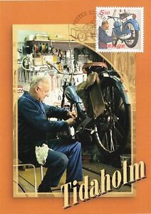 Classic-Vintage-Tidaholm-Great-Moped-Motor-Bike-Sweden-Maxi-FDC-2005
