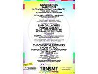 2 x TRNSMT Sunday tickets - Less than face value