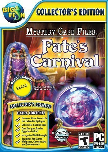 Computer Games - Mystery Case Files Fate's Carnival PC Games Windows 10 8 7 XP Computer seek find