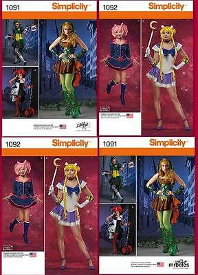 Simplicity Sewing Pattern Halloween Costume Cosplay Sailor Moon Flirty New UPIC - Halloween Costumes Patterns