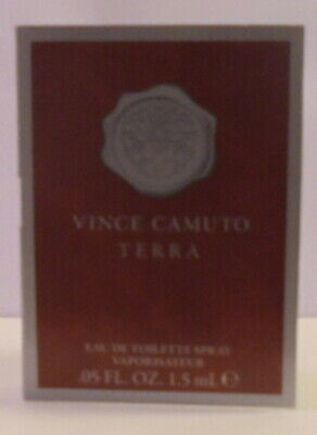Vince Camuto Terra Cologne Perfume Spray Miniature Test Sample Bottle Royal Men