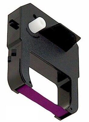 Fits Lathem 100e 700e 1000e 1500e 1600e 7000e Ribbon Cartridge Purple