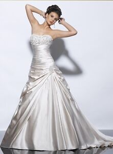 NEW Maggie Sottero 'Jesslyn' Wedding dress/Bridal Gown Diamond White UK 12