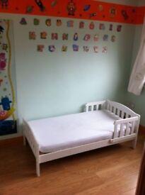 White Darlington toddler bed mothercare