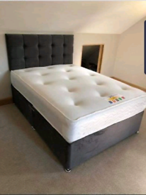 Divan bed available in all sizes.