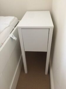 IKEA nordly night table white, like new, regular price over $100