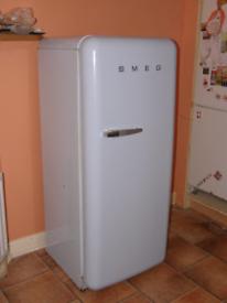 Parcel blue smeg fab 28 fridge freezer