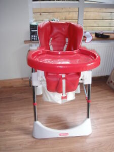 Red leather Cosatto High Chair