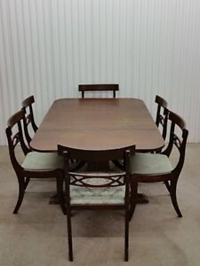Antique 10 Piece Dining Table Set