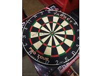 Dart board signed by Phil 'the power' Taylor