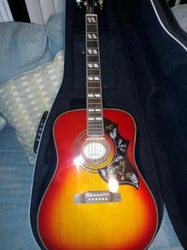 Epiphone Hummingbird Acoustic Guitar  Beautiful!