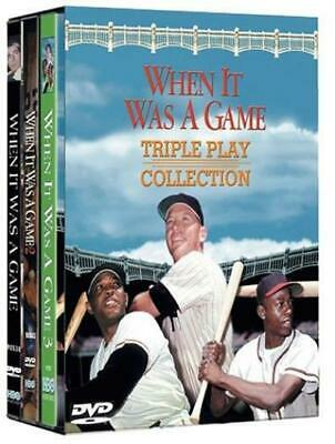 When It Was A Game: Triple Play Collection 3-Disc Set DVD VIDEO MOVIE 3 film BOX ()