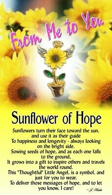 Thoughtful Little Angels -  Sunflower of Hope  Lapel Pin   #1218