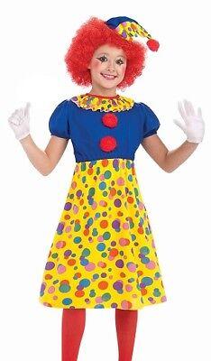 Clown Girl Kostüm für Kinder Größe M Karneval Halloween 65209 ()