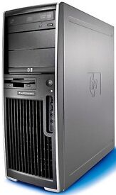 FAST POWERFUL HP XW WORKSTATION Core 2 Duo 2.33GHz 4 GB RAM 160 GB HD WIN XP