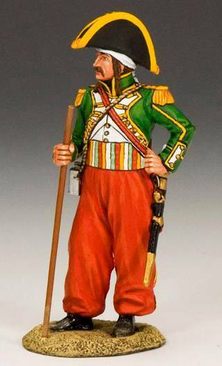 King & Country NE007 Napoleonic French Chef de Musique - RETIRED - Mint in Box
